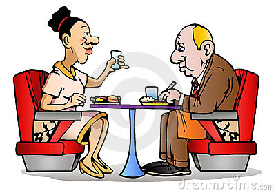 Couple dinner time