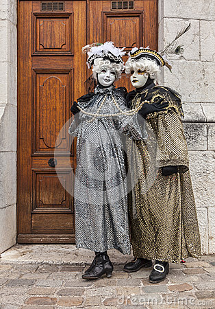 Couple Disguised Editorial Stock Image