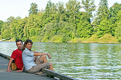 Couple on Dock - horizontal