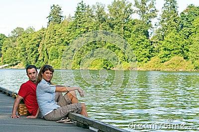 Couple on Dock - horizontal