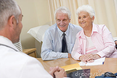 Couple in doctor s office