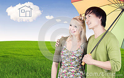 Couple with dream house