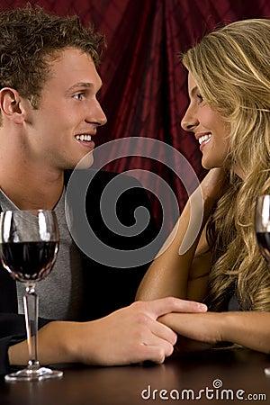 Couple drinking