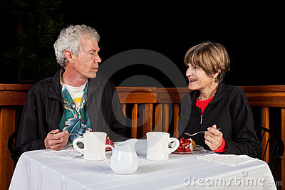 Couple Eating Desert