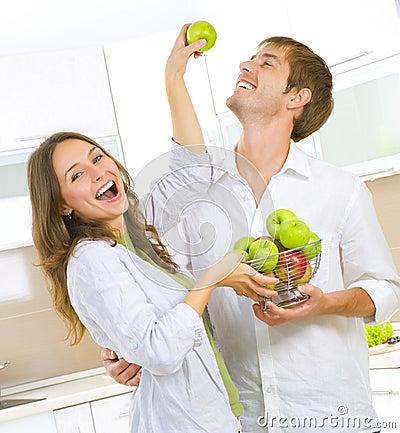 Couple Eating fresh fruits