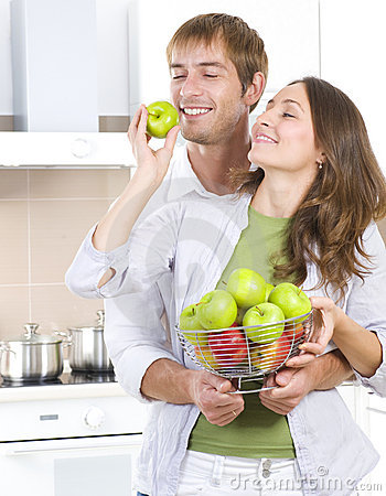 Couple Eating Fresh Fruits Stock Photos - Image: 20332503