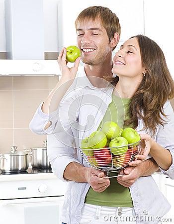Free Couple Eating Fresh Fruits Stock Photos - 20332503