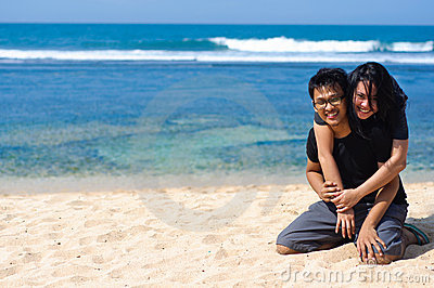 Couple enjoy vacation