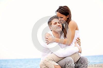 Couple Enjoying Each Other s Company on the Beach