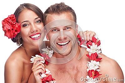 Couple enjoying their honeymoon