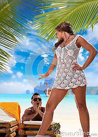 Couple Enjoying their summer holidays