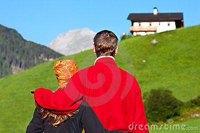 Couple enjoying a view