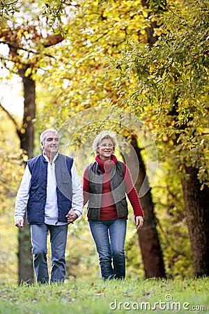 Couple enjoying walk