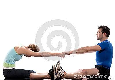 couple exercising workout Body Building Exercis