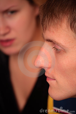 Couple faces quarrel