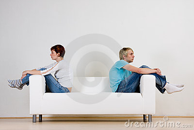 Couple after fight