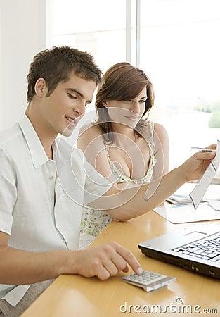 Couple Finances on Desk