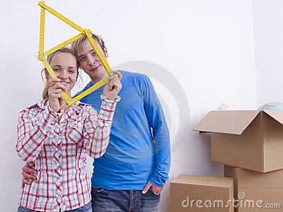 Couple with folding rule