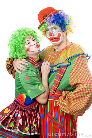 Couple of funny clowns