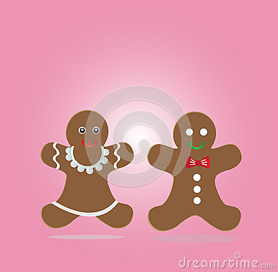 Couple of gingerbread cookies