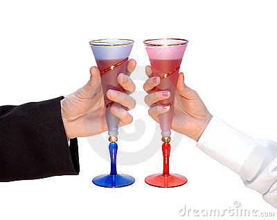 Couple of glasses, celebration