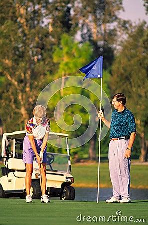 Couple Golfing 1