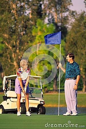 Free Couple Golfing 2 Royalty Free Stock Photos - 306158