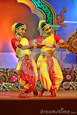 Couple of Gotipua dancers Editorial Photo