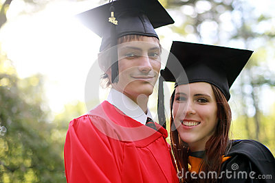 Couple at Graduation