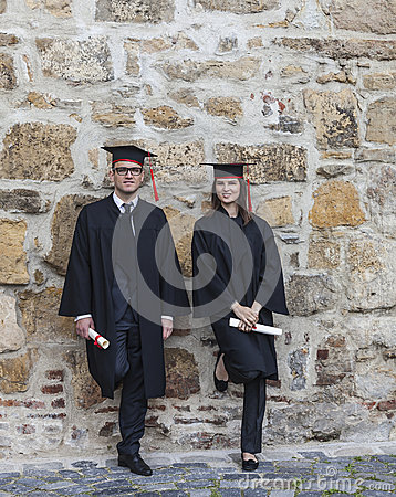 Couple in the Graduation Day