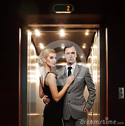 Couple in hallway