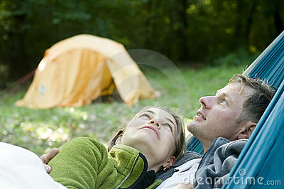 Couple in a hammock