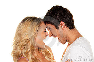 Couple has fun. Love,