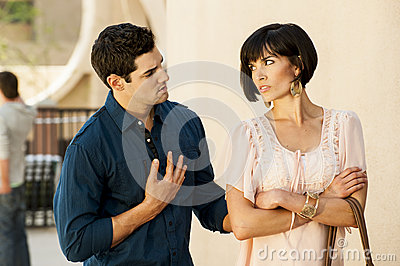 Couple have a disagreement