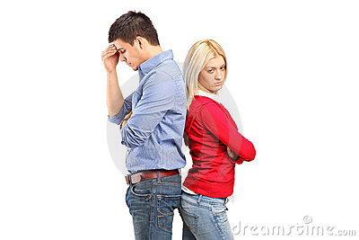 Couple after having an argument