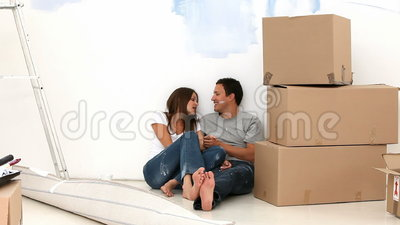 Couple having break Stock Photo