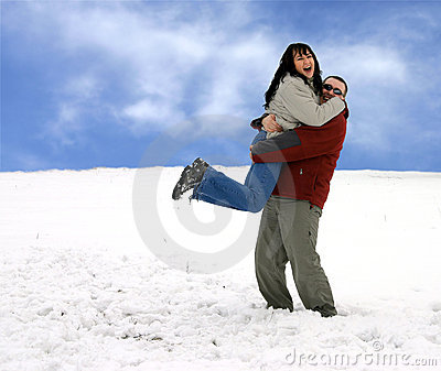 Couple - Having Fun In Snow
