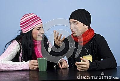 Couple having a funny conversation