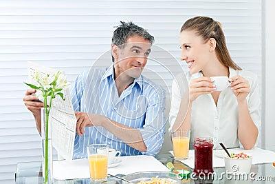 Couple Having Healthy Breakfast