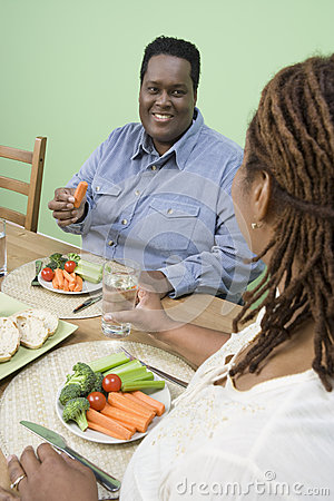 Couple Having Healthy Food Together