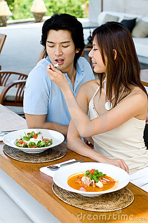 Couple Having Lunch