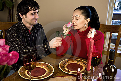 Couple having a romantic dinner