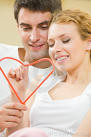 Couple with heart symbol
