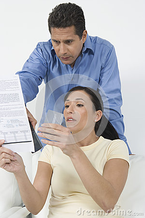 Couple Holding Credit Cards