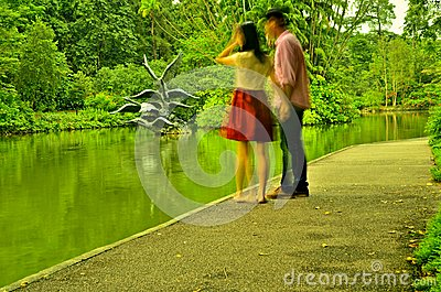 Couple Holding Hands Editorial Photo