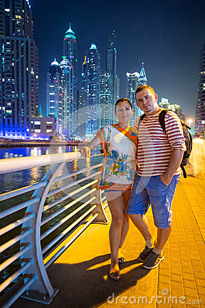 Couple on holidays in Dubai