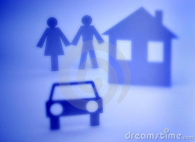Couple Home and Car Cutout