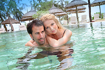 Couple in honeymoon