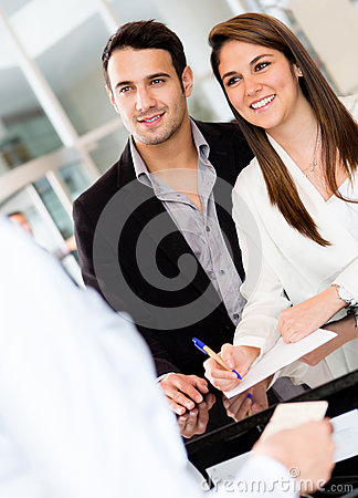 Couple at a hotel