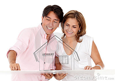 Couple with a house
